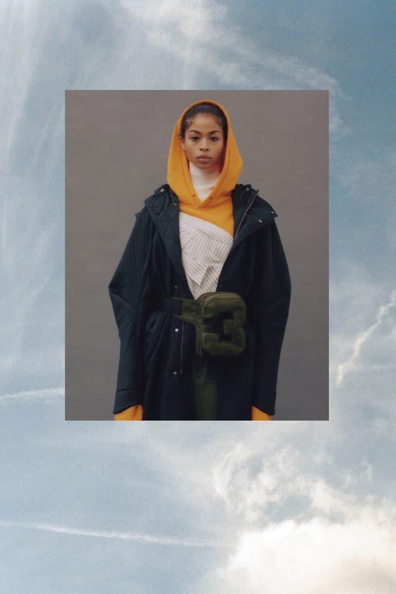 Feng Chen Wang Fall/Winter 2018 Collection Lookbook Jacket Boyfriend Shirt Hoodie Blue White Orange