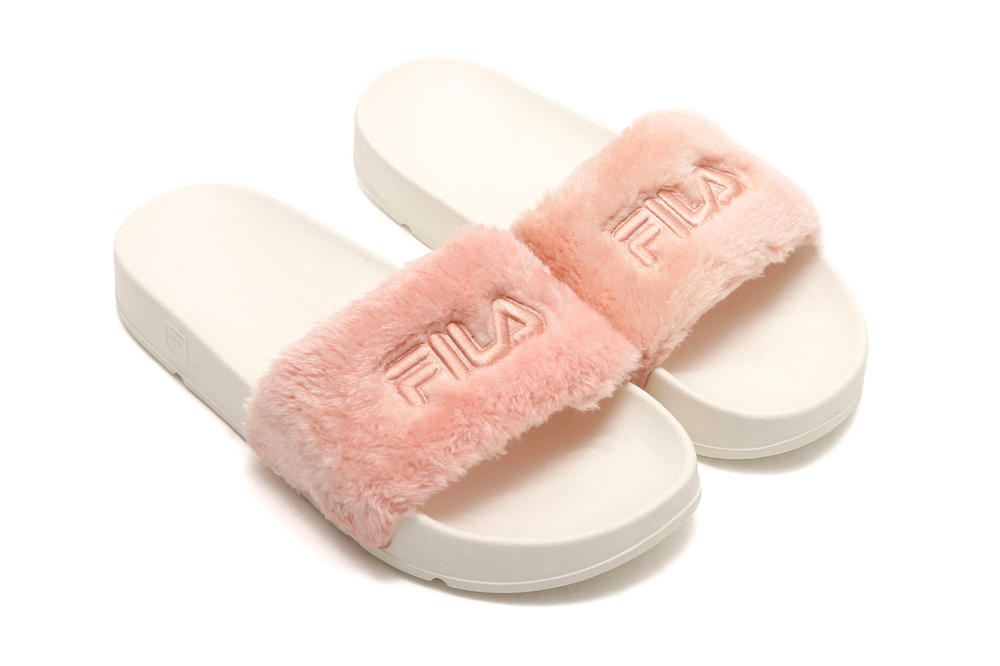 FILA Drifter Fur Slides Pink Pastel Millennial Light Shop Price Where to Buy Release atmos Sandals Slippers Japan Summer 2018