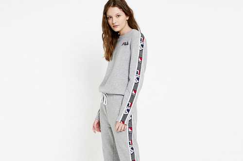 43eedc14bf13 You ll Be Forever Cozy in FILA s Logo Jumpsuit