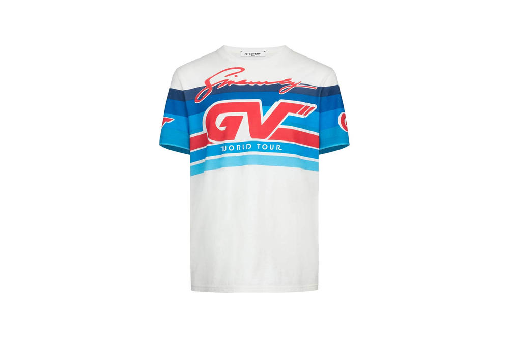 Givenchy Pre-Fall 2018 Motocross Short Sleeve T-Shirt White