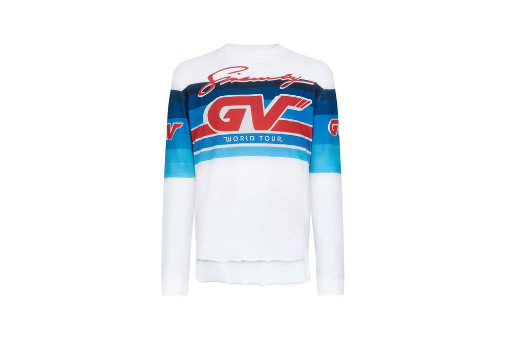 Givenchy Pre-Fall 2018 Motocross Long Sleeve T-Shirt White