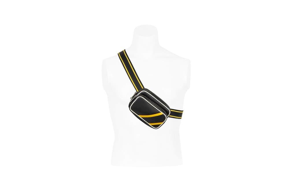 Givenchy Pre-Fall 2018 Motocross Drawstring Reverse Crossbody Bag Yellow
