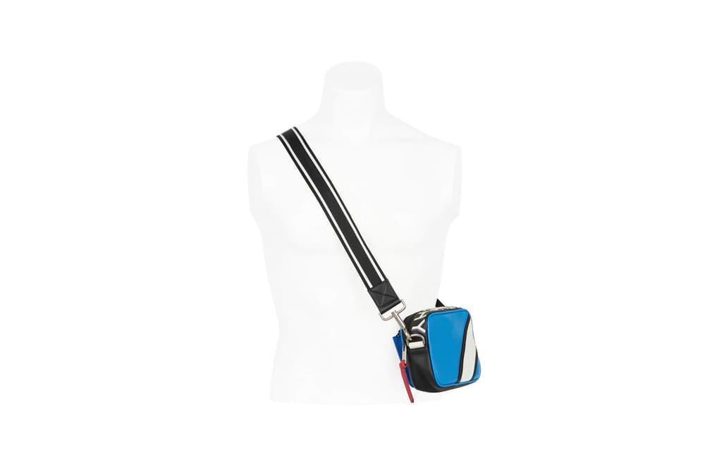 Givenchy Pre-Fall 2018 Motocross Drawstring Reverse Crossbody Bag Blue