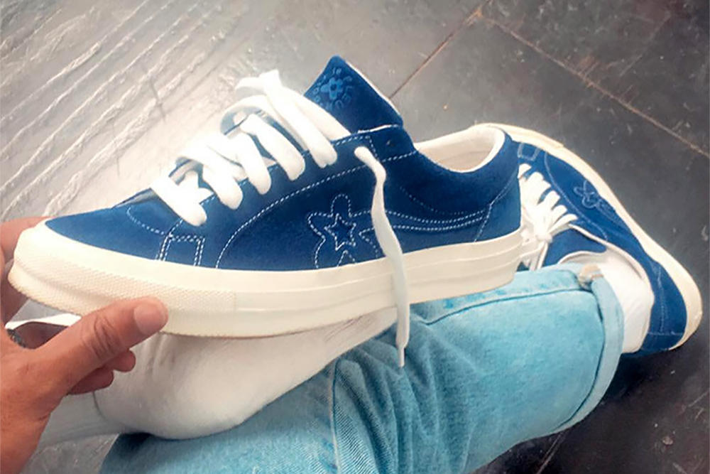 59afa21d945b GOLF Le FLEUR  x Converse Navy Blue One Star Sneaker Tyler The Creator 2018  collaboration