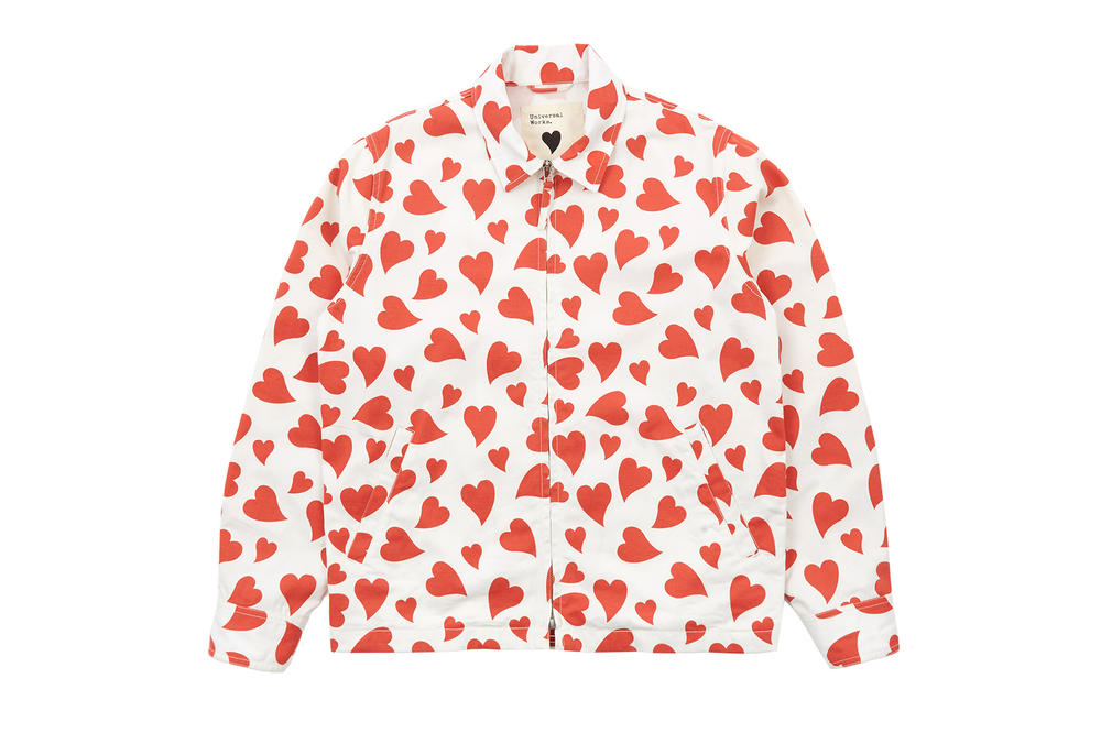 Goodhood x Universal Works Heart Print Jacket Exclusive Limited Edition Where to buy