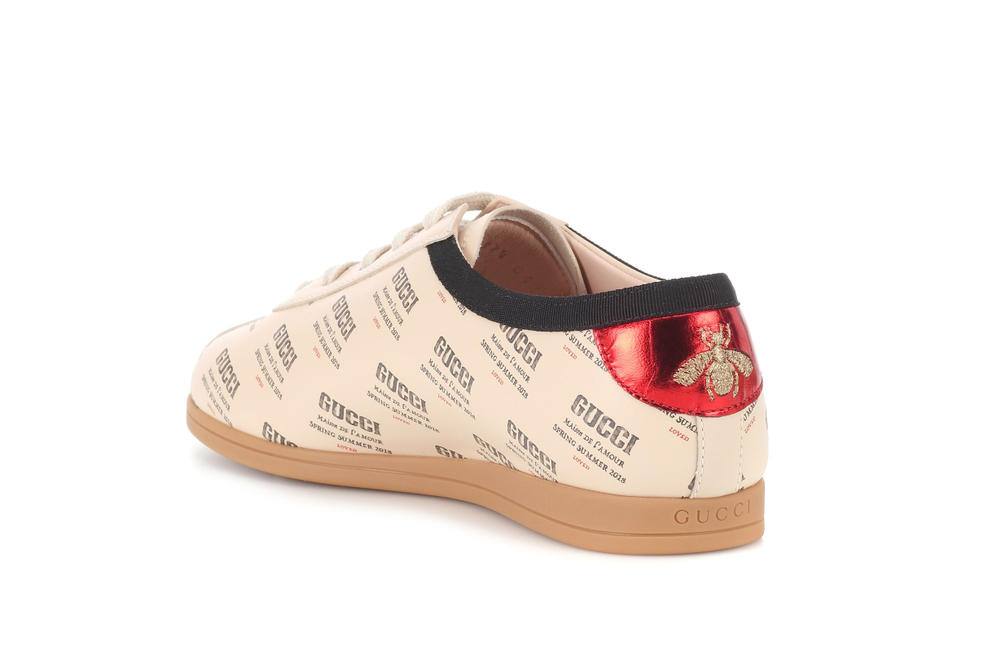 Gucci Vintage Logo Print Spring/Summer Sneakers Off-White Cream