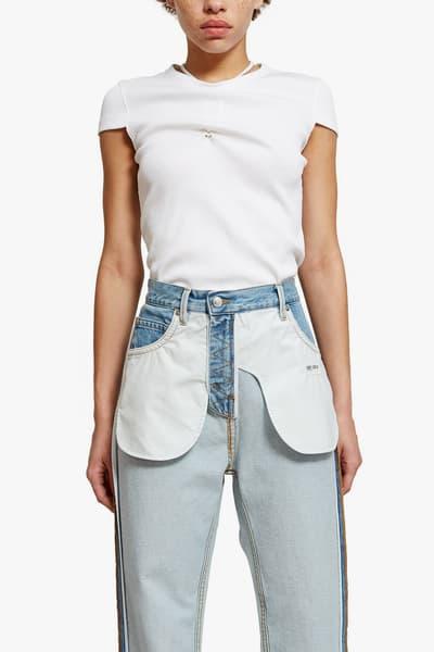 Helmut Lang Inside Out Denim Pants Deconstructed