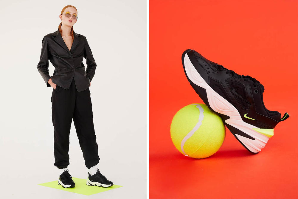 Nike M2K Tekno Black Phantom Volt Editorial NAKED
