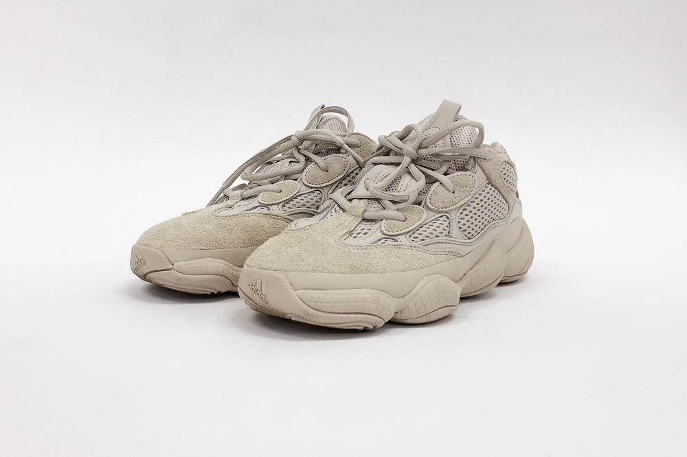 1448e0252 hypebae kicks review adidas originals yeezy desert rat 500 blush on foot