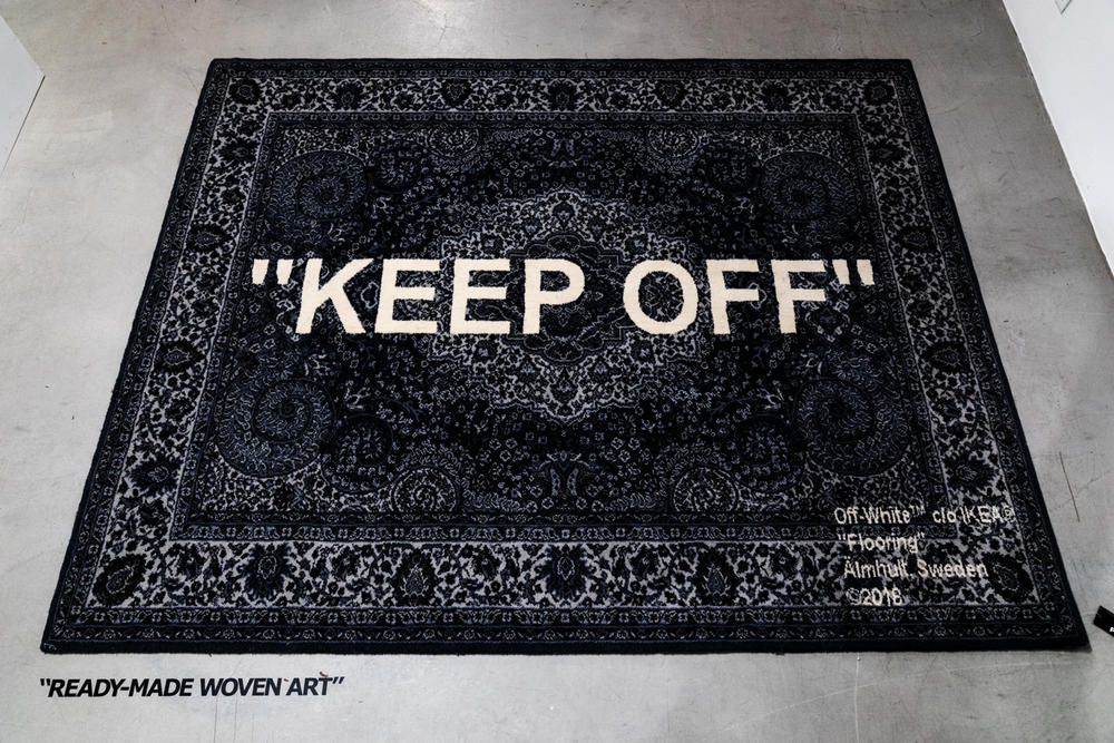 ikea virgil abloh off-white collaboration furniture home keep off rug carpet