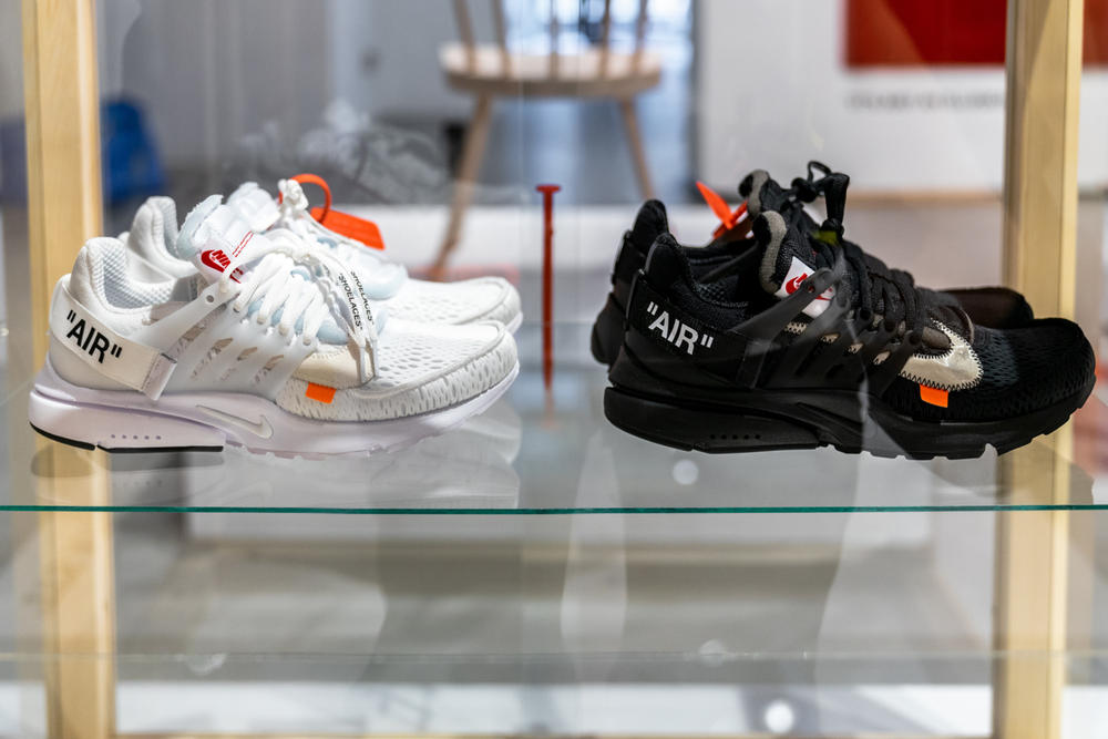 ikea virgil abloh off-white collaboration furniture home nike the ten sneaker white black