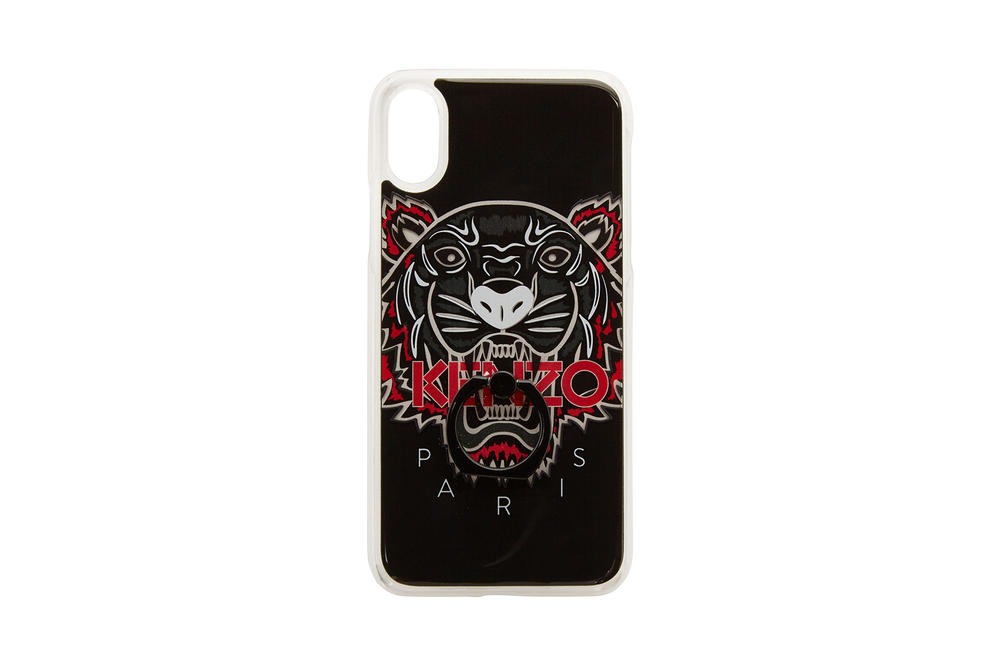kenzo apple iphone x phone cases tiger limited edition ring holder black white red