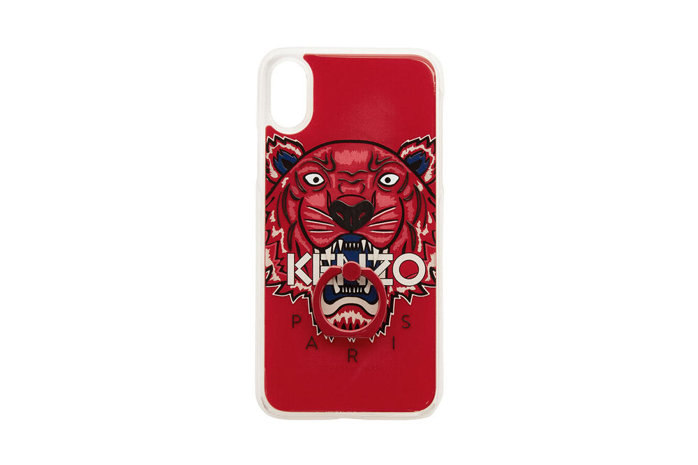 kenzo apple iphone x phone cases tiger limited edition red white blue ring holder