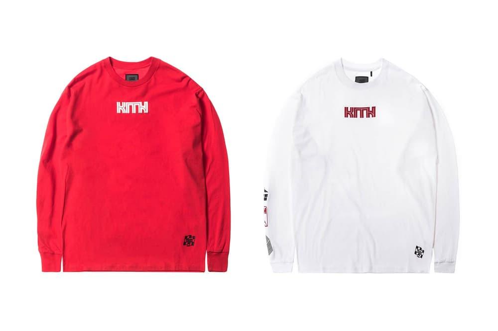 KITH Racing Women Long Sleeve T-Shirt Red White