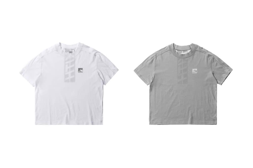 KITH Racing Women Short Sleeve T-Shirt White Gray