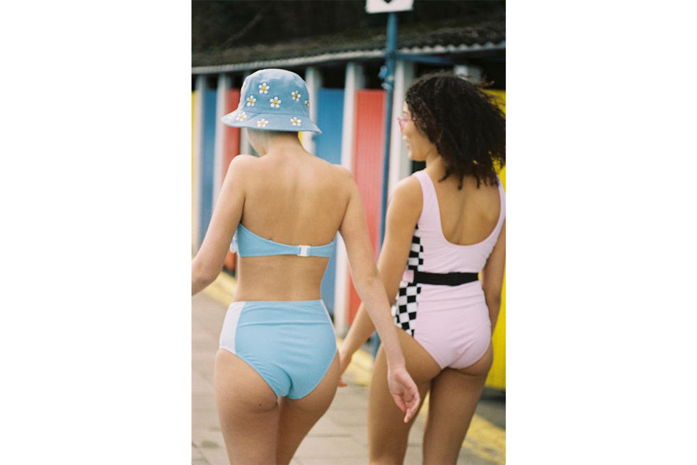 Lazy Oaf Swimwear Collection Summer 2018 Bikinis Swimsuit one-piece two-piece Denim Pink Camo Heart Print