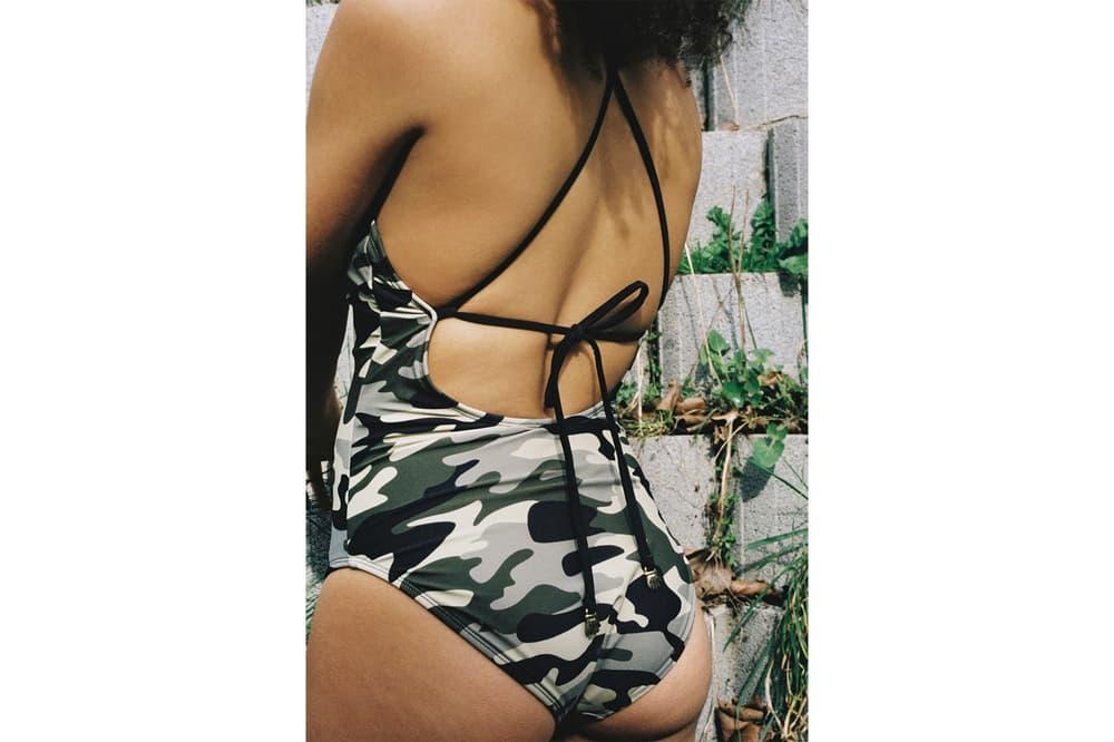 Lazy Oaf Swimwear Collection Summer 2018 Bikinis Swimsuit one-piece two-piece Denim Pink Camo Heart Print