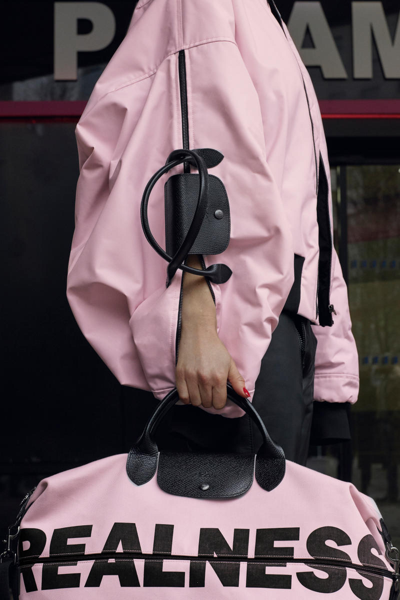 73cc6dbcada6 Longchamp As Seen By Shayne Oliver Collection Travel Bag Nylon Reimagined  Pink Bomber Jacket French Luxury