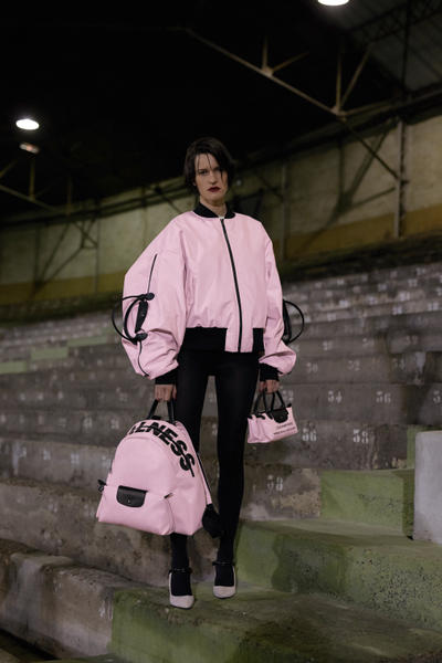 Longchamp As Seen By Shayne Oliver Collection Travel Bag Nylon Reimagined Pink Bomber Jacket French Luxury Fashion House