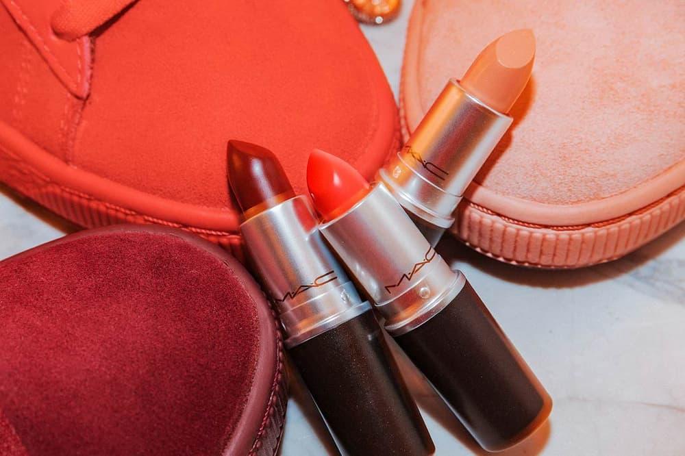 MAC x PUMA Suede 50 Lipstick Pack Creme d'Nude Lady Danger Sin
