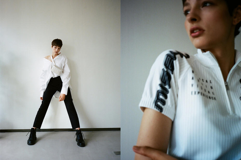 MISBHV Spring/Summer 2018 HBXWM HBX Editorial Collared Shirt T-Shirt Pants Boots White Black