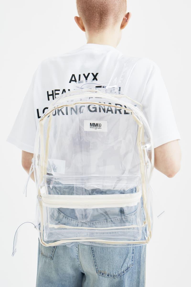MM6 Maison Margiela Clear PVC Backpack Bag Plastic Transparent