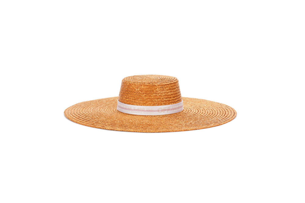 Off-White Wide Brimmed Straw Hat Summer Beach Virgil abloh Industrial Belt Strap