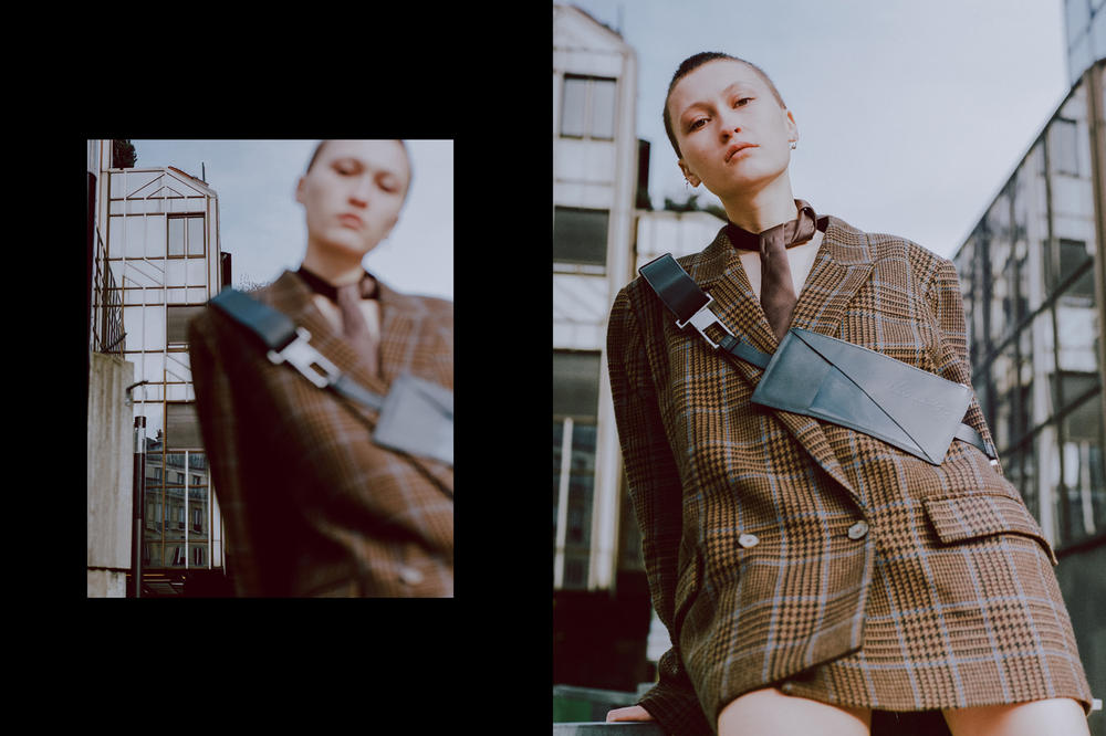 Necessity Sense Fall/Winter 2018 Collection Sneak Peek Blazer Crossbody Pouch Plaid Black