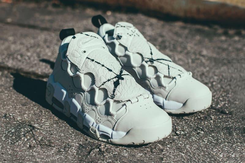 085867d1312ed An eye-catching sneaker for the bold. Nike Air More Money Phantom Snakeskin  Sneaker Reptile Retro Silhouette. 1 of 7