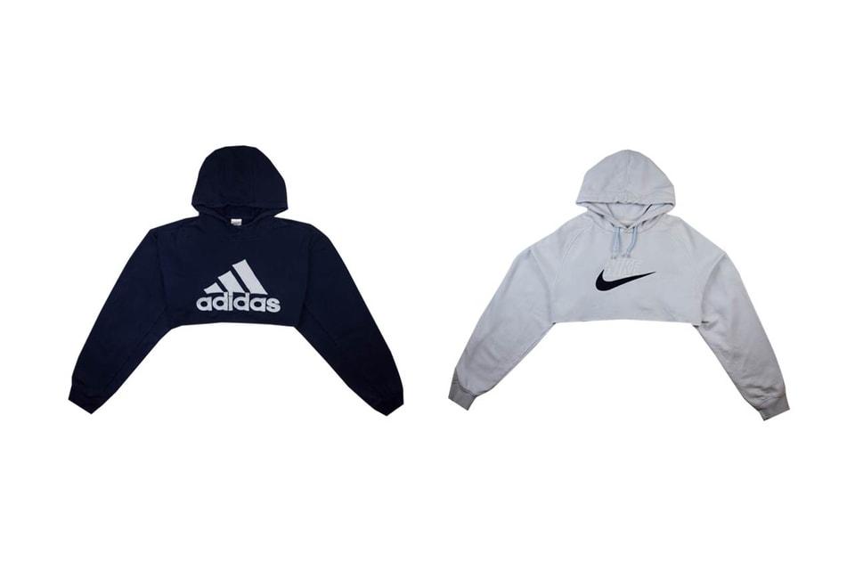ce0110b7 Shop Nike and adidas' Cropped Hoodies in Black   HYPEBAE