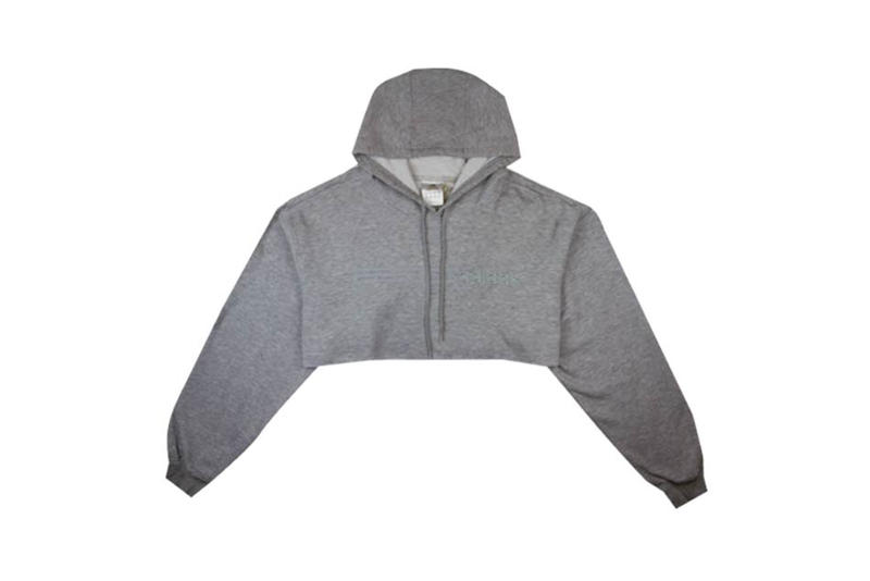 adidas Cropped Hoodie Grey Fruition