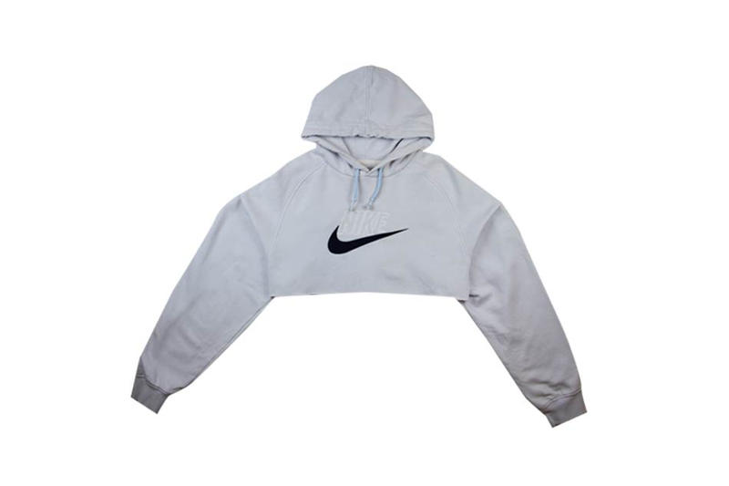 Nike Heritage Cropped Hoodie Gray Fruition