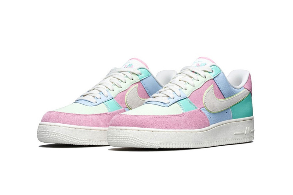 Nike Air Force 1 Easter Pastel Colorway Drop Hypebae Кожа, синтетика, текстиль, пластик, резина. nike air force 1 easter pastel