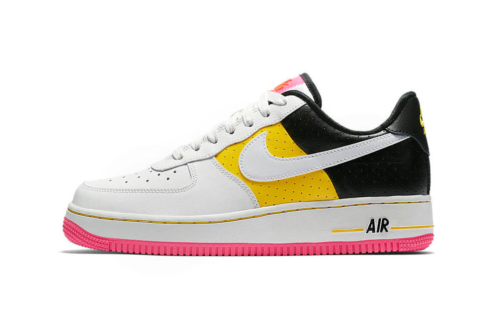Nike Air Force 1 Moto Yellow Black White Pink