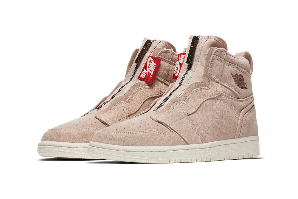 hot sales e2422 0150c Nike Air Jordan 1 High Zip Particle Beige Release Info Women s Wmns brand  suede where to