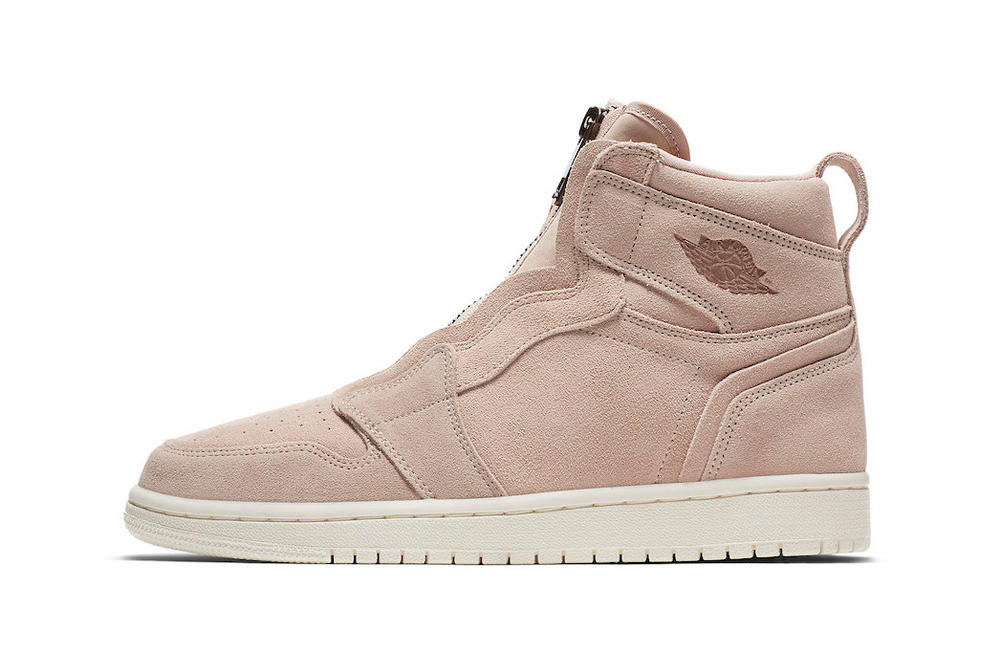 Nike Air Jordan 1 High Zip Particle Beige Release Info Women's Wmns brand suede where to buy date