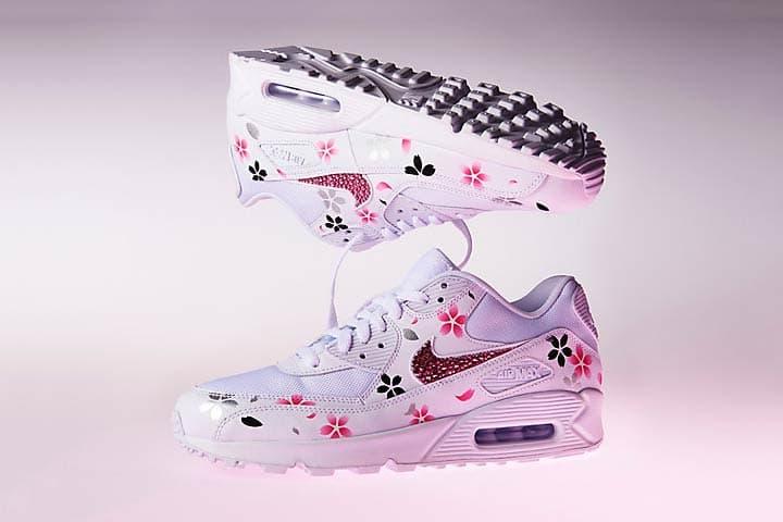 39da82fde2 Nike Air Max 90 Custom Blossoms in Pink Sakura   HYPEBAE