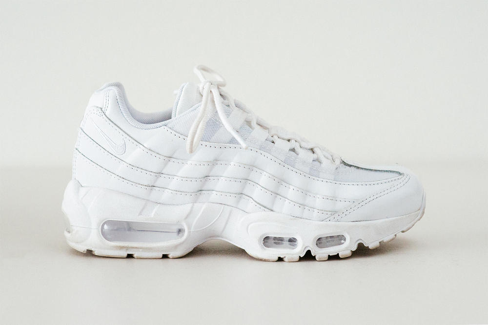 6a5bc2bffb4 Nike Air Max 95 Triple White Sneakers Review Chunky Price Release  Footasylum Women Swoosh