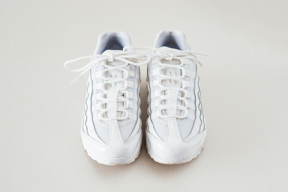 huge selection of 430f5 12a22 Nike Air Max 95 Triple White Sneakers Review Chunky Price Release  Footasylum Women Swoosh