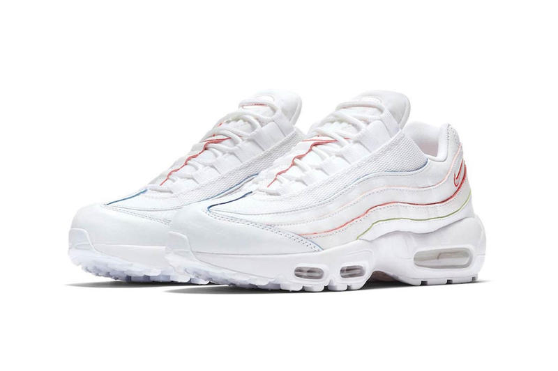 Nike Air Max 95 White Rainbow Red Green Orange Blue Green