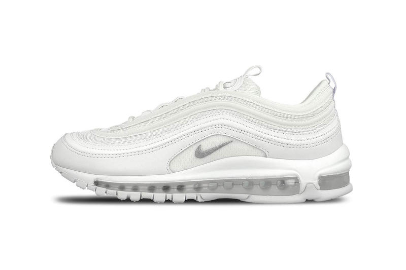 air max 97 white on feet men