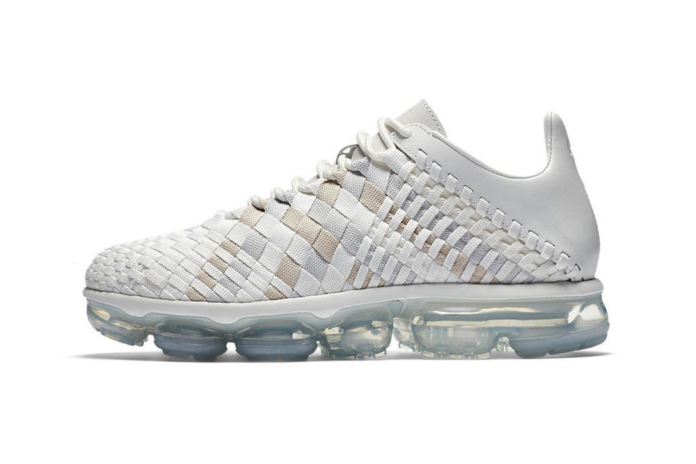 7b12d5949b572 Nike Air VaporMax Inneva Release Date Summit White Midnight Navy Woven  Sneakers Where to Buy