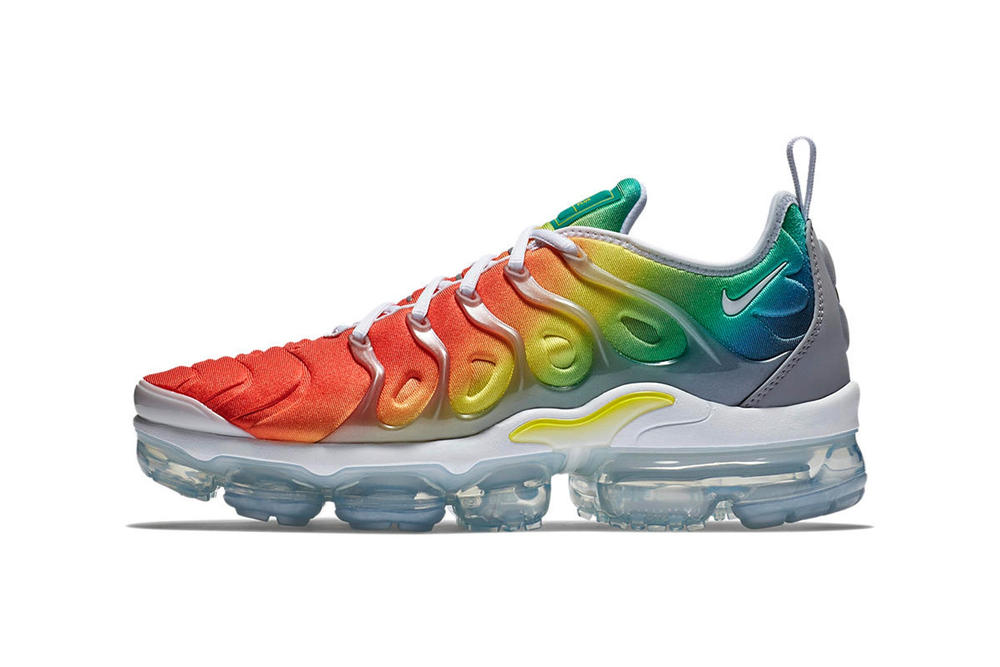 Nike Air VaporMax Plus Rainbow Gradient Grey White Upper Iteration Orange  Yellow Green Blue fd3bf05880