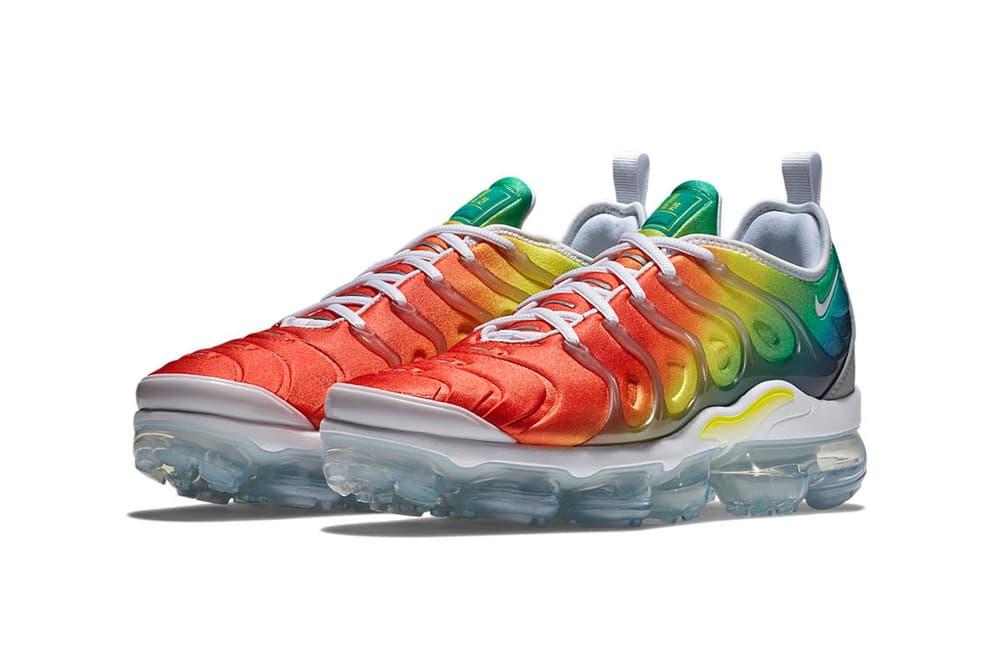 Nike Air VaporMax Plus Rainbow Gradient Grey White Upper Iteration Orange Yellow Green Blue