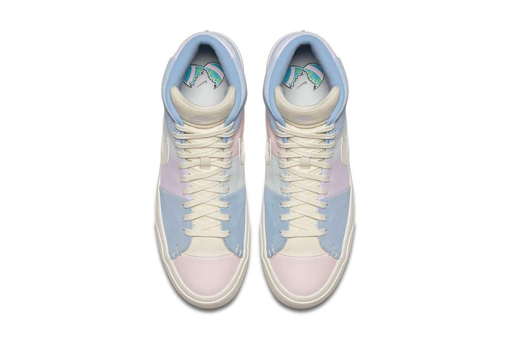 "Nike Blazer QS Pastel ""Easter"" Colorway Pink Yellow Blue"