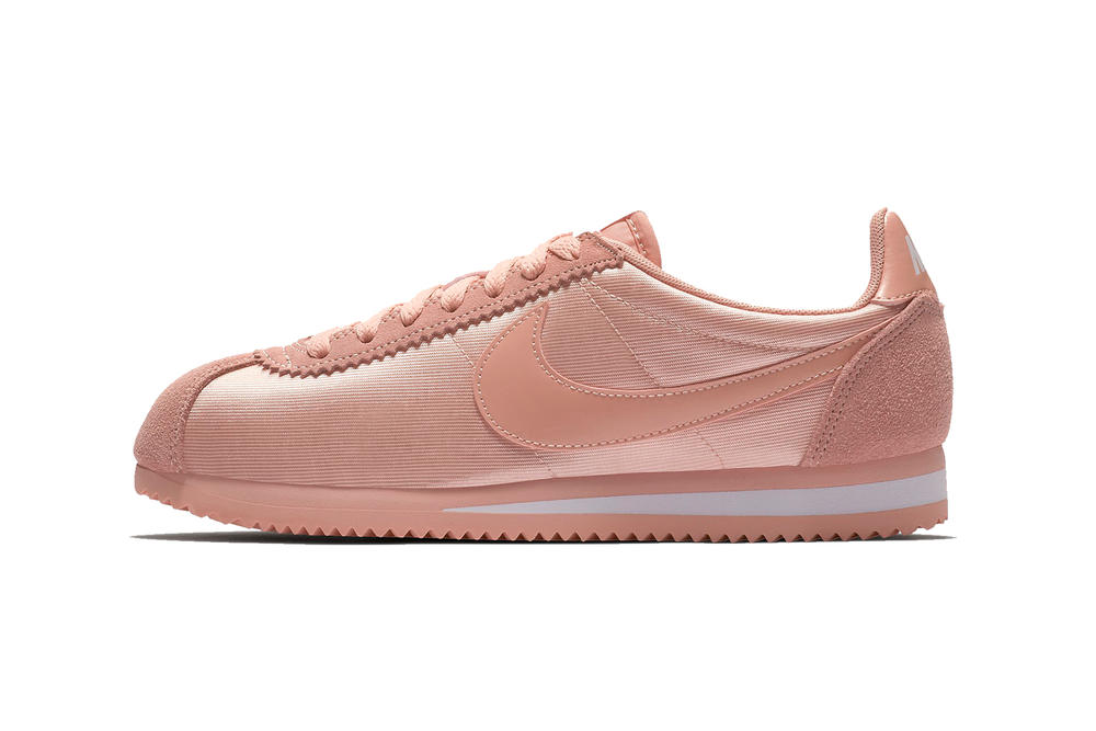 Nike Classic Cortez Nylon Coral Stardust White Pink Pastel Spring Summer 2018 Shop Release Price Date Information Where to Buy
