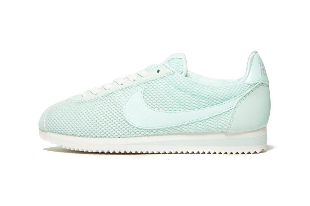 Nike Mint Pale Light Pastel Green Mesh Cortez Sneakers Ladies Girls Women's Wmns where to buy jd sports