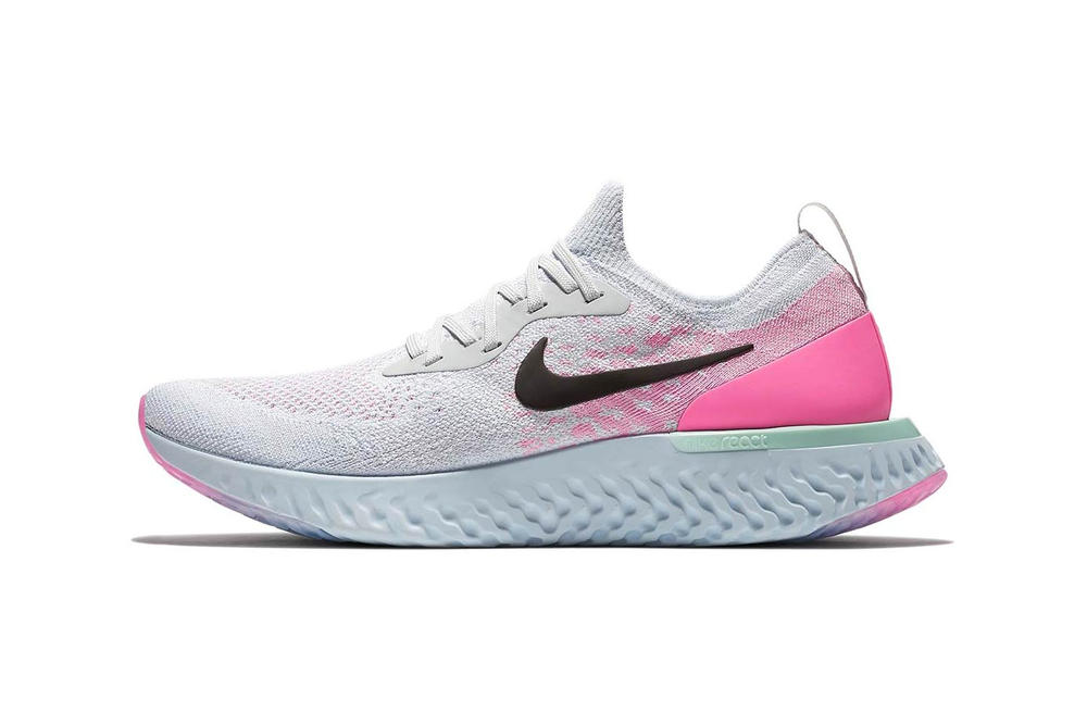 8be9227d6a2 Nike Epic React Flyknit Emerges in Pink White