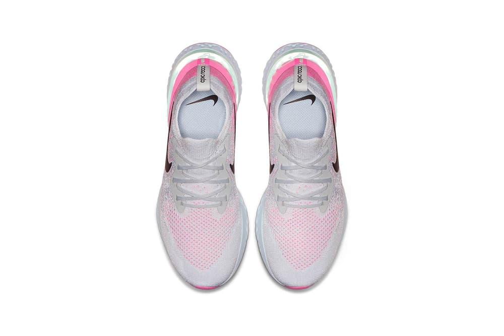 Nike Epic React Flyknit Pink White