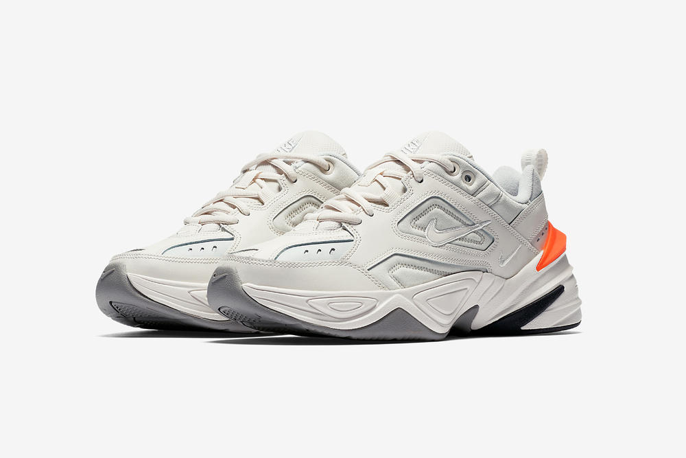 nike m2k tekno phantom dad shoe side profile angle view